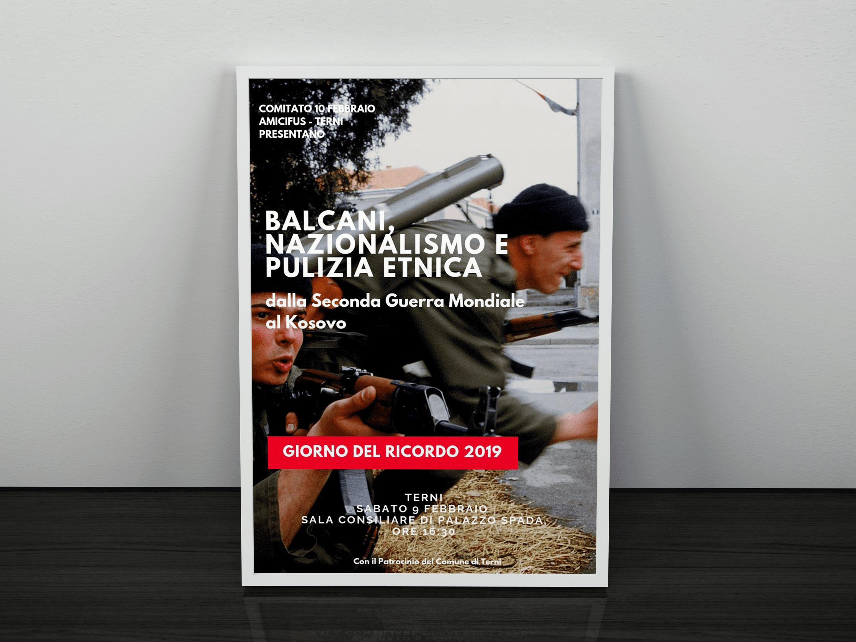 """Giorno del ricordo 2019: a Terni la conferenza """"Balcani: nazionalismo e pulizia etnica"""""""