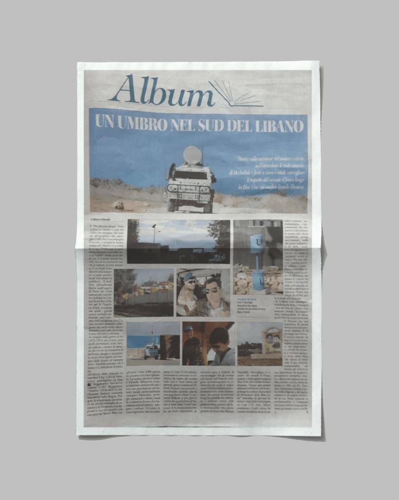 """""""Un umbro nel sud del Libano"""", Corriere dell'Umbria"""