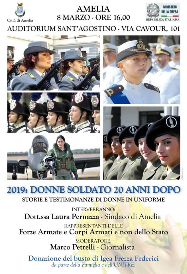 """""""Donne Soldato vent'anni dopo"""", evento ad Amelia"""