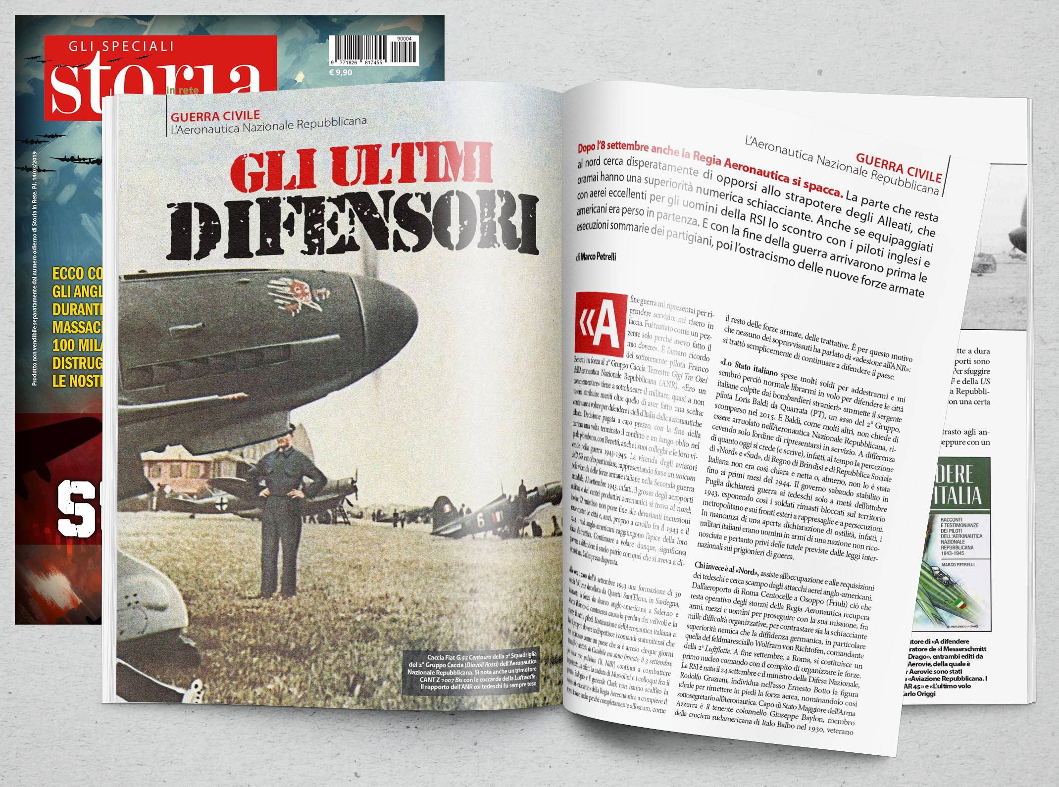 """Gli ultimi difensori (parte di """"Bombe sull'Italia""""), Storia In Rete """"Gli Speciali"""", agosto 2019"""